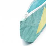Kosmetiktasche - Geometric Turquoise