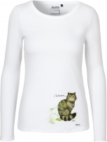 Langarm Shirt Frauen - (Wildkatze)