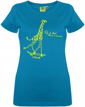 Giraffe auf Skateboard