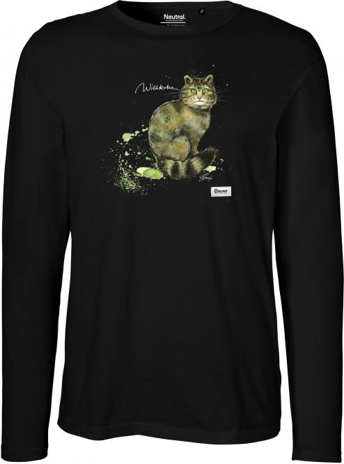 Langarm Shirt Männer - Version 2 (Wildkatze)