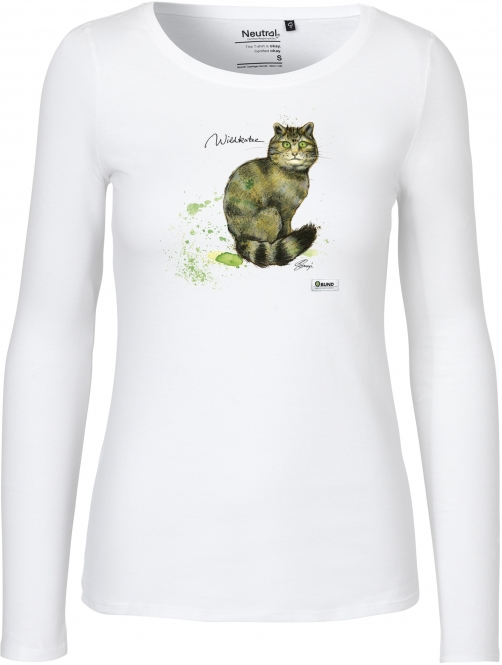 Langarm-Shirt Frauen - Version 2 (Wildkatze)